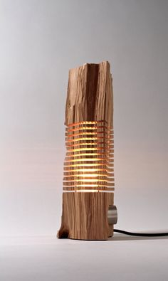 Reclaimed Wood Sculpture Illuminated Art by SplitGrain on Etsy