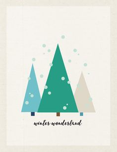 FREE Winter Wonderland Printable by Jen Gallacher available at www.jengallacher.com.