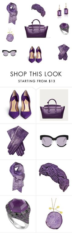 """""""Аметистовая орхидея"""" by anfisa-28 on Polyvore featuring мода, Paul Andrew, Bally, Maison Fabre, Marc by Marc Jacobs, Invicta, Stephen Webster, Taolei и Goshwara"""