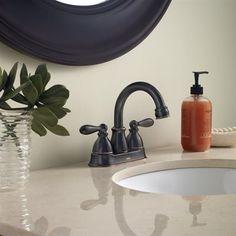 Moen CA84667 Caldwell 2-Handle 4-in Centerset WaterSense Bathroom Sink Faucet (Drain Included)