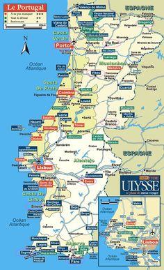 map of portugal Portugal Nord, Visit Portugal, Spain And Portugal, Sintra Portugal, Portugal Vacation, Hotels Portugal, Portugal Travel, Algarve, Sasebo Japan