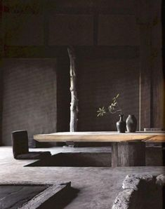 40 Creative Wooden Dining Tables Design Ideas – Amazing World Food and Recipes Japanese Dining Table, Dining Table Height, Slab Table, Wooden Dining Table Designs, Wooden Dining Tables, Communal Table, Dining Furniture, Furniture Design, Japanese Home Decor