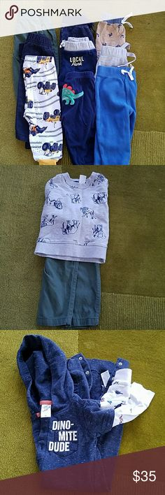 3-9 Mos Lot Of 6 Pieces Pants Infant Girl Jumping Beans Euc Discounts Price Carter