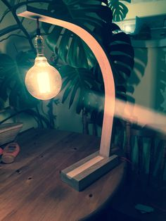 Love this steam bent oak lamp by The Steam Bent Furniture Company ❤️
