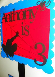 Personalized Spiderman Birthday Party Banner by PartiesByTristan, $25.00