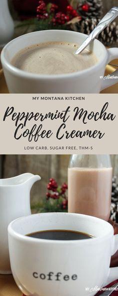 Peppermint Mocha Coffee Creamer (Low Carb, Sugar F…