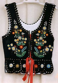 Traditional embroidered vest from Poland.for all good fairy tale girls ,gretels and snow whites to go down to the woods in