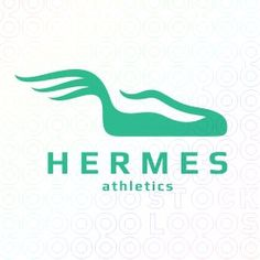 Hermes Athletics logo #sports #logo #mark #design #shoe #wings #Hermes #messenger #message #gymnastics