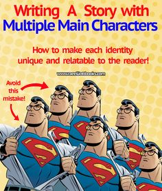 Writing a story with multiple main characters? Eager to learn how to create memorable diverse characters? Do not miss these three tips!--to read since this happens a lot in my stories. Fiction Writing, Writing Advice, Writing Resources, Writing Help, Writing Skills, Writing A Book, Writing Prompts, Writing Characters, Writers Write