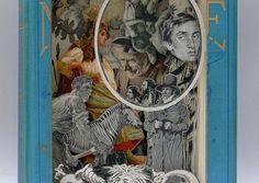 Book Sculptures di Alexander Korzer-Robinson. L'artista inglese Alexander Korzer-Robinson crea queste fantastiche opere d'arte in 3D, tagliando pazientemente le pagine dei vecchi libri una dopo l'altra, lasciando solo le illustrazioni che sono importanti per la narrazione. Via freeyork.org