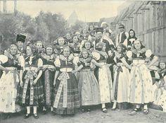 Hanačky z Nákla v r. 1895 Folk Costume, Costumes, Bohemian, Culture, Traditional, Embroidery, Painting, Beautiful, Art