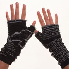 The Raven writing gloves by storiarts! I REALLLY want a pair!!! I would wear them ALL the time! :)