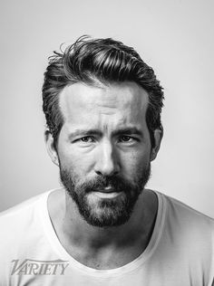 Looks like a mug shot but I love Ryan Reynolds Portrait Studio, Sundance Film Festival, Face Reference, Celebrity Portraits, Famous Portraits, Face Expressions, Black And White Portraits, Hollywood Actor, Interesting Faces