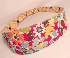 Adult Fabric Headband Yoga Reversible Hairband by HeadbandsbyPao