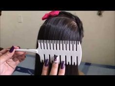 How to use stray comb-By Meiri Vargas , Hair Cutting Techniques, Hair Color Techniques, Red Brunette Hair, Aveda Hair Color, Balayage Technique, Hair Color Formulas, Hair Up Styles, Hair Arrange, Ombré Hair