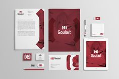 Desenvolvimento de marca nominativa e material de expediente para a empresa Goulart Consultoria em Comunicação.