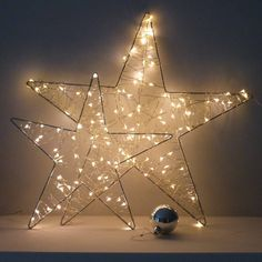 lattice fairy light star by the lovely light company   notonthehighstreet.com