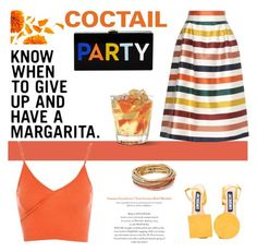 """""""cocktail party"""" by lianafourmouzi ❤ liked on Polyvore featuring Carolina Herrera, Jacquemus, ABS by Allen Schwartz, Milly and Topshop"""