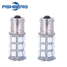 FISHBERG 1156 5050 SMD 27 Led Car Light Source p21w Turn Signal Width Light for Ford Focus 2 Xenon Lamps Yellow Car Styling
