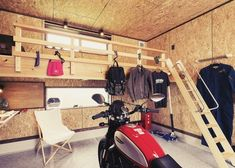 Motorcycle Workshop, Motorcycle Garage, Garages, Loft, Backyard, House, Garage Workshop, Atelier, Motorbikes