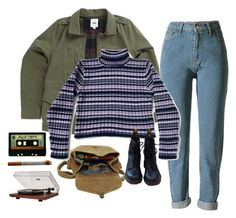 """""""(freaks) and geeks"""" by nostalgiccdreams ❤ liked on Polyvore featuring Vans, Maison d'usQ, Michele, Dr. Martens and Dot & Bo"""