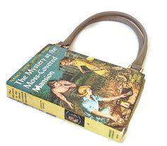 Nancy Drew Book  Purse Mystery Moss Covered by retrograndma, $39.99