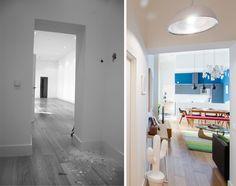 Reforma integral, amueblamiento y decoración completos para la vivienda de Pedro, en Sol, Madrid centro. Una antigua oficina transformada en vivienda para su empleo en el mercado del alquiler vacacional a través de la empresa de gestión de alquileres trísticos Minty Host S.L.