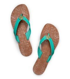 Patent Leather Thora Sandal by Tory Burch in Island Turquoise