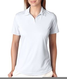 ULTRACLUB 8425L Ladies' Cool and Dry Sport Performance Interlock Polo ** Additional details at the pin image, click it  : Plus size shirts