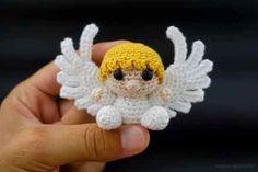 Baby Knitting Patterns Christmas Crochet little Amigurumi angel Crochet Angel Pattern, Crochet Angels, Crochet Christmas Decorations, Crochet Ornaments, Crochet Snowflakes, Baby Knitting Patterns, Crochet Patterns Amigurumi, Crochet Dolls, Christmas Angels