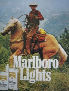 """not the cigarettes, but the man on the horse reminds me of """"A Man From Snowy River"""" HOT!"""