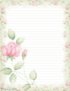My printable stationary Creations 2 – Sophia Designs PenPal Stationery - Paper Diy Printable Lined Paper, Free Printable Stationery, Printable Flower, Journal Paper, Journal Cards, Envelopes, Pocket Letter, Notebook Paper, Borders For Paper