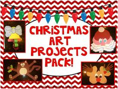 One art and writing project a week for all of December!  5 total projects!  Super cute bulletin boards and lit. connections!