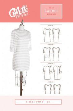Colette Ladies Easy Sewing Pattern 1025 Laurel Top & Dress | Sewing | Patterns | Minerva Crafts