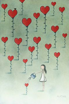 Illustration by Amanda Cass Illustration Art, Illustrations, I Love Heart, Love Heart Images, Whimsical Art, Be My Valentine, Heart Shapes, Doodles, Artsy