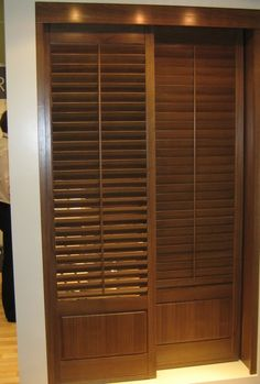sliding louver door & Architect Residence in Miami tropical-bedroom True Vented Louver ...