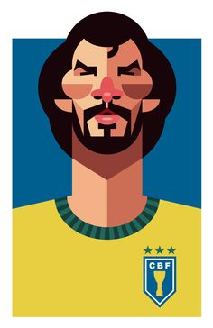 Os jogadores de futebol de Daniel Nyari - Designerd