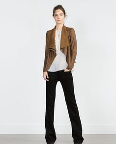 FAUX SUEDE OVERSHIRT-Jackets-WOMAN | ZARA United States