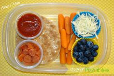 Back to School Lunch Ideas: DIY Pizzables Bento