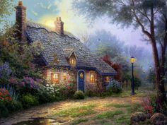 Thomas Kinkade Garden Paintings 074