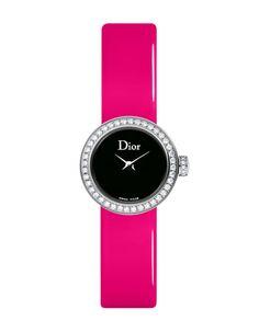Montre Dior Horlogerie Mini D rose fluo.
