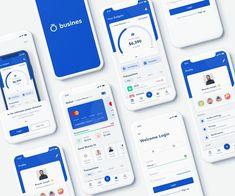 Busines - Free Bank App for Sketch - Free Sketch Mobile & App Design on FreeDune Mobile App Design, Mobile App Ui, Mobile Mobile, Design Android, App Ui Design, Interface Design, User Interface, Design Design, Design Layouts