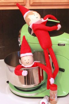 The sewing pattern for this Do-It-Yourself Elf is available in Made By Marzipan's Etsy shop.