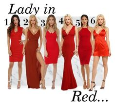 """Lady in Red..."" by windsorstore on Polyvore featuring Summer, red and dresses"