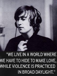 True that. J Lennon