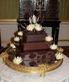 """Prince Williams wedding cake! He asked for this specifically, a kind of chocolate he had as a child. This would be what in the US we call a """"Grooms Cake"""", served along with the actual wedding cake."""