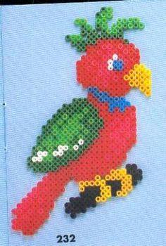 Parrot Hama perler pattern