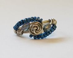 Hey, I found this really awesome Etsy listing at https://www.etsy.com/listing/500519693/silver-beaded-rose-ring