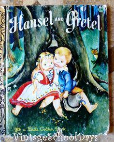 Children's Books~Vintage Hardcover Book ~ Hansel And Gretel ~ Little Golden Books ~ Kids Books ~ USA ~ Classic Story Vintage Children's Books, Antique Books, Vintage Ideas, Vintage Patterns, Hansel Y Gretel, Velasco, Little Golden Books, My Childhood Memories, Bedtime Stories