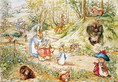 "Pictures by Beatrix Potter | Many a time Beatrix Potter has saved an, ""Muuum, I'm bored!/will ..."